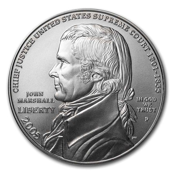 2005-P Chief Justice Marshall $1 Silver Commem BU (Capsule only)
