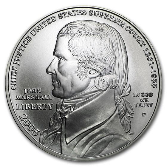 2005-P Chief Justice Marshall $1 Silver Commem BU (w/Box & COA)