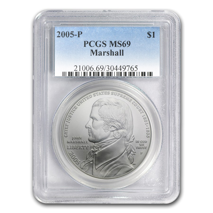 2005-P Chief Justice Marshall $1 Silver Commem MS-69 PCGS