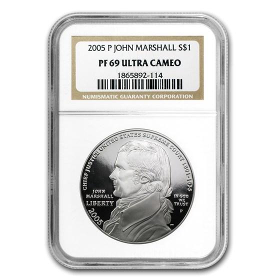 2005-P Chief Justice Marshall $1 Silver Commem PF-69 NGC