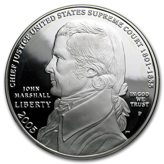 2005-P Chief Justice Marshall $1 Silver Commem Prf (w/Box & COA)