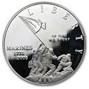 2005-P Marine Corps 230th Anniv $1 Silver Commem Proof (Capsule)