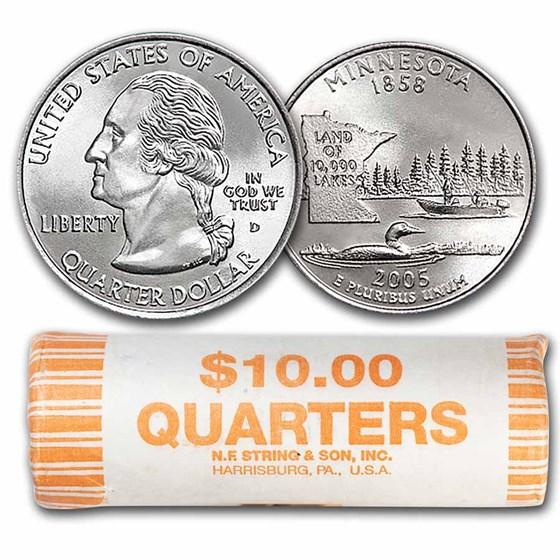 2005-P Minnesota Statehood Quarter 40-Coin Roll BU