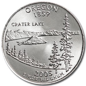 2005-P Oregon State Quarter BU
