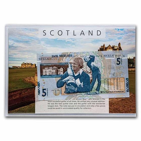 2005 Scotland 5 Pounds Banknote: Jack Nicklaus Unc