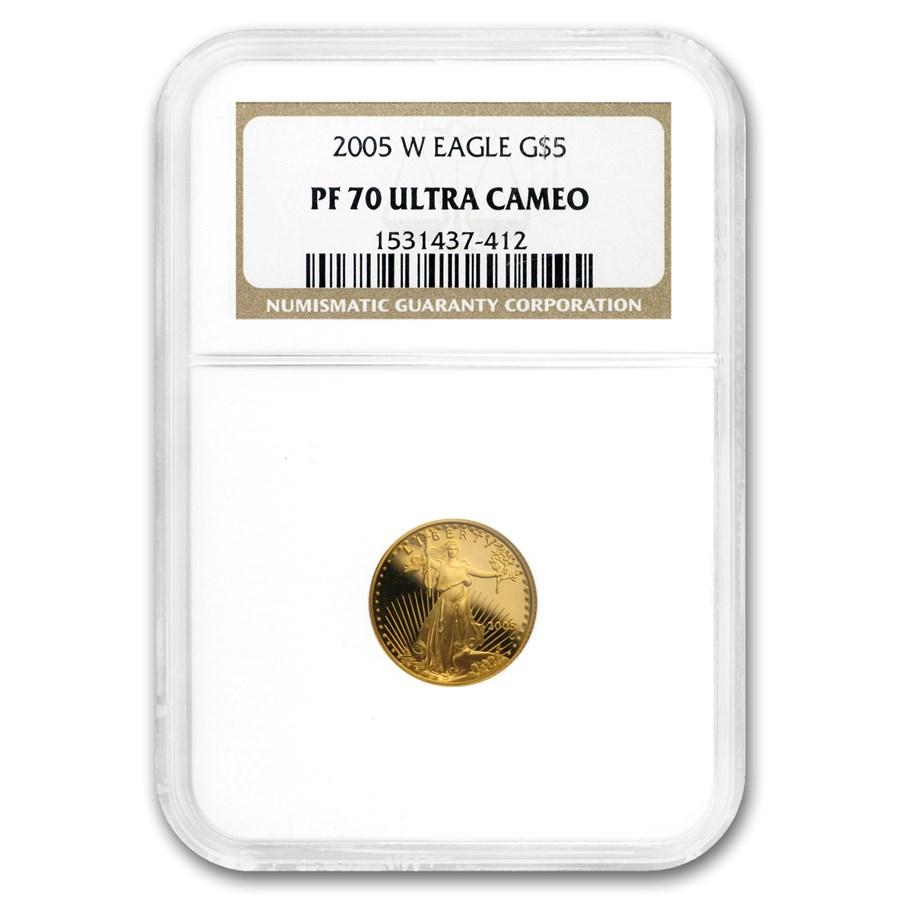 2005-W 1/10 oz Proof American Gold Eagle PF-70 UCAM NGC