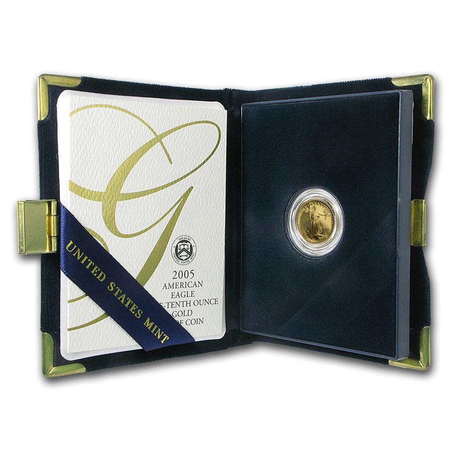 2005-W 1/10 oz Proof American Gold Eagle (w/Box & COA)