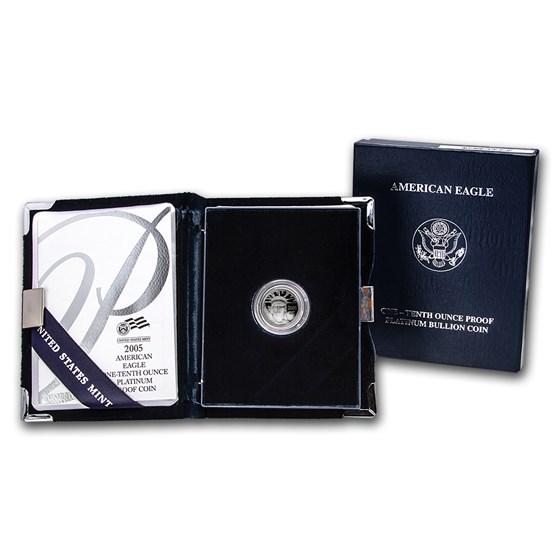 2005-W 1/10 oz Proof American Platinum Eagle (w/Box & COA)