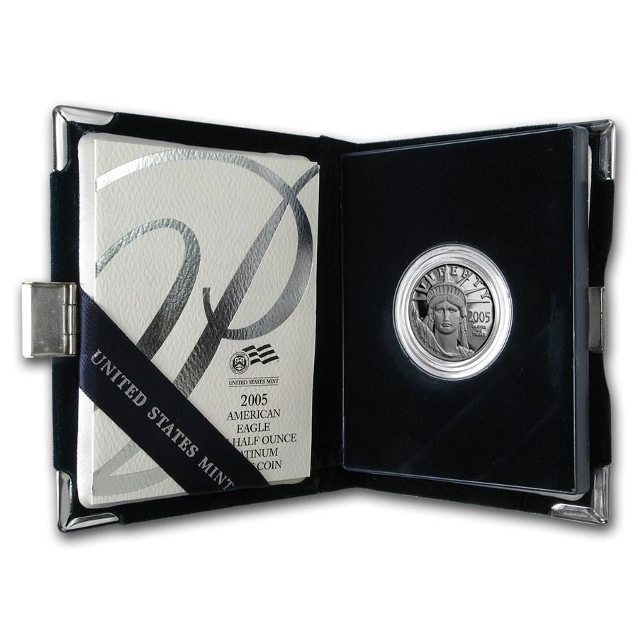 2005-W 1/2 oz Proof American Platinum Eagle (w/Box & COA)
