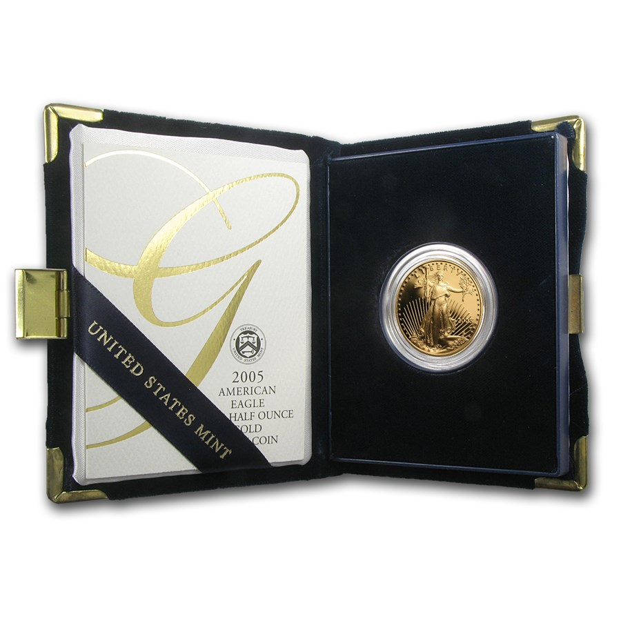2005-W 1/2 oz Proof Gold American Eagle (w/Box & COA)