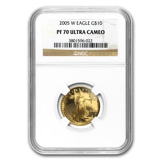 2005-W 1/4 oz Proof American Gold Eagle PF-70 NGC