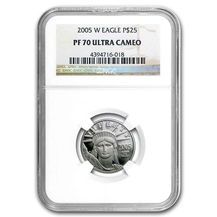 2005-W 1/4 oz Proof Platinum American Eagle PF-70 NGC
