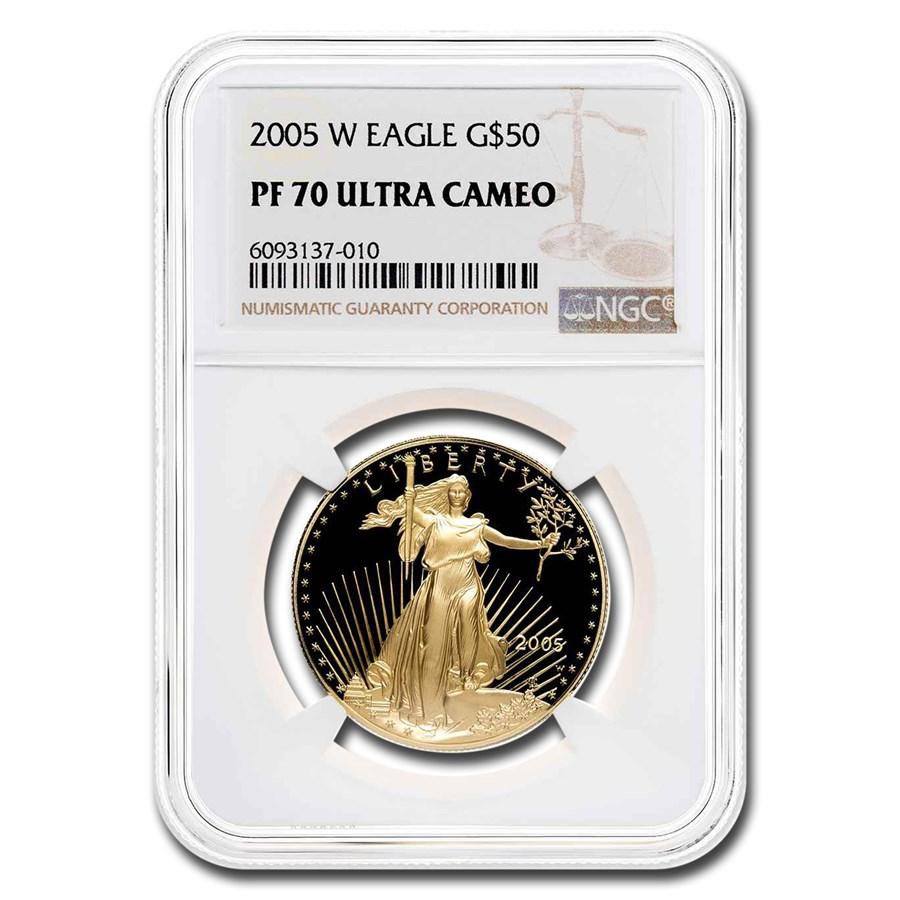 2005-W 1 oz Proof American Gold Eagle PF-70 UCAM NGC