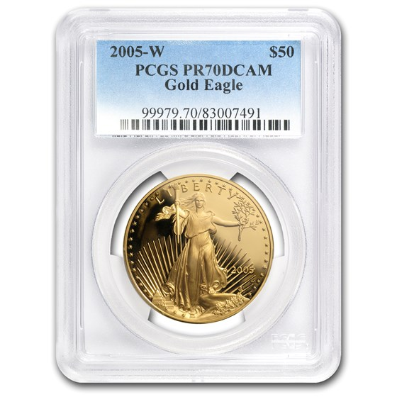 2005-W 1 oz Proof American Gold Eagle PR-70 PCGS