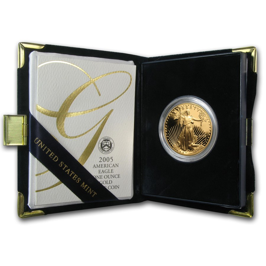 2005-W 1 oz Proof American Gold Eagle (w/Box & COA)
