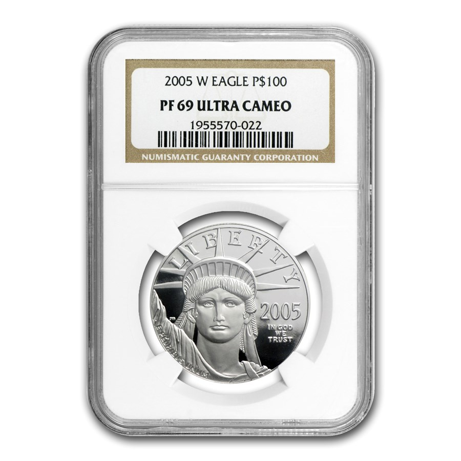 2005-W 1 oz Proof American Platinum Eagle PF-69 NGC