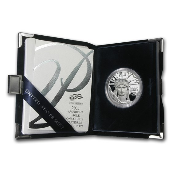 2005-W 1 oz Proof American Platinum Eagle (w/Box & COA)
