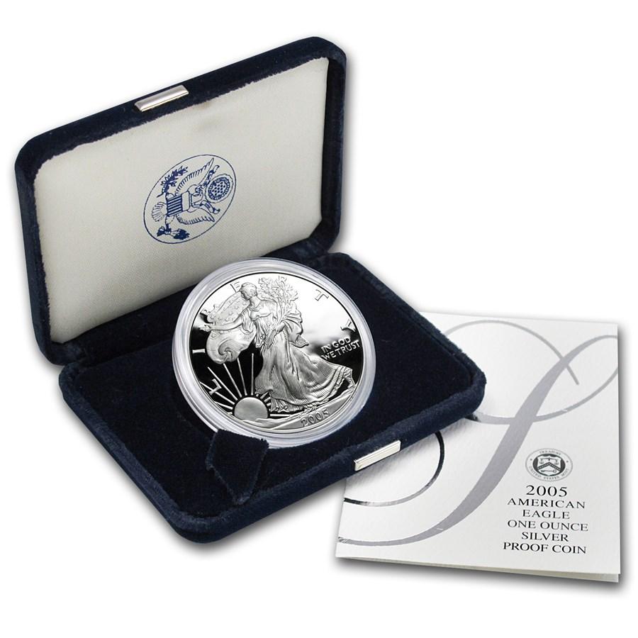 2005-W 1 oz Proof American Silver Eagle (w/Box & COA)