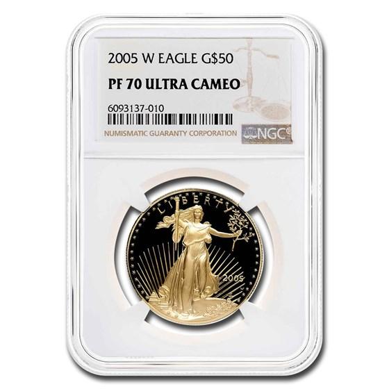 2005-W 1 oz Proof Gold American Eagle PF-70 NGC