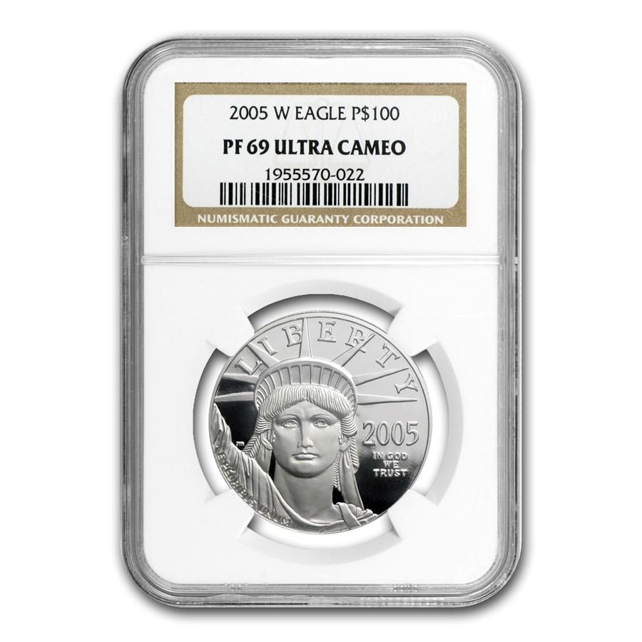 2005-W 1 oz Proof Platinum American Eagle PF-69 NGC