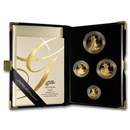 2005-W 4-Coin Proof American Gold Eagle Set (w/Box & COA)