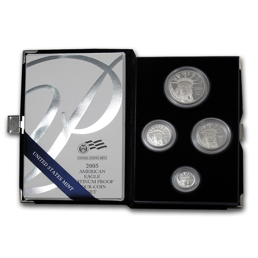 2005-W 4-Coin Proof American Platinum Eagle Set (w/Box & COA)