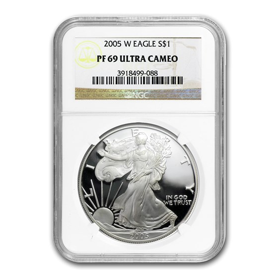 2005-W Proof American Silver Eagle PF-69 NGC