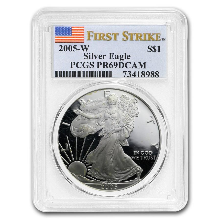 2005-W Proof American Silver Eagle PR-69 PCGS (FS)