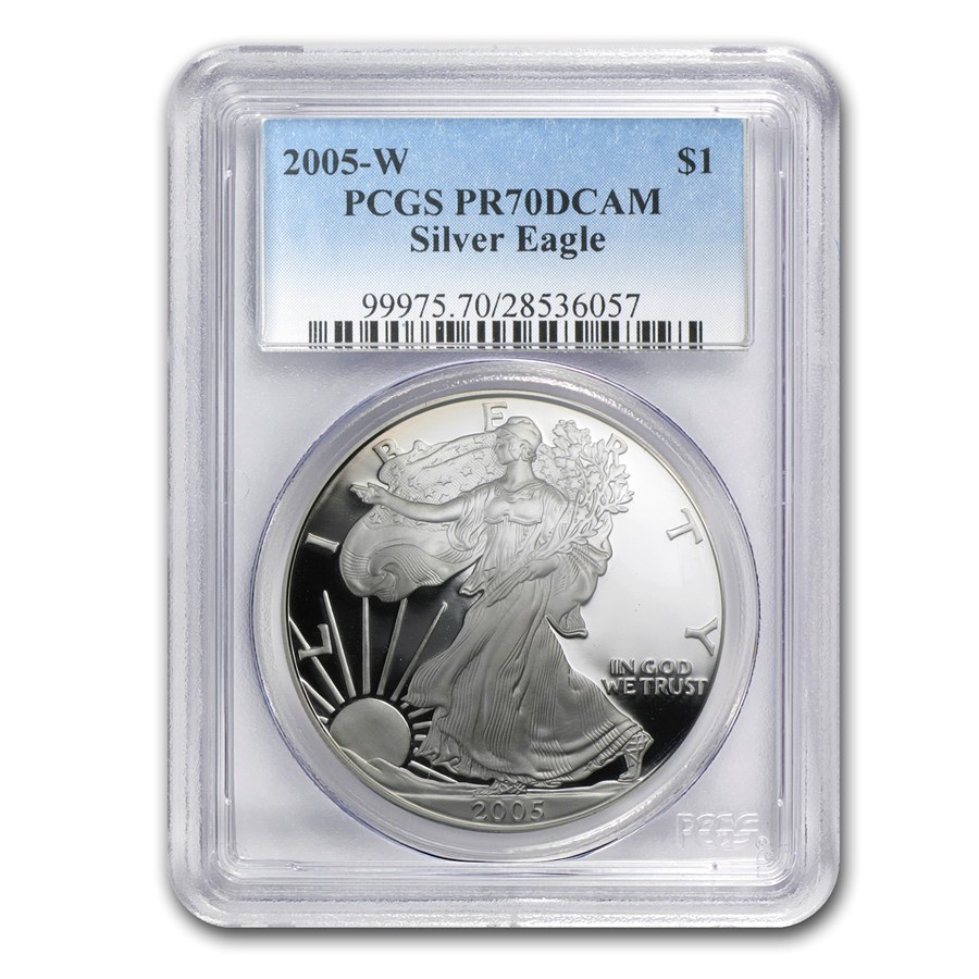2005-W Proof American Silver Eagle PR-70 PCGS