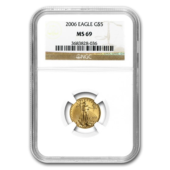 2006 1/10 oz American Gold Eagle MS-69 NGC