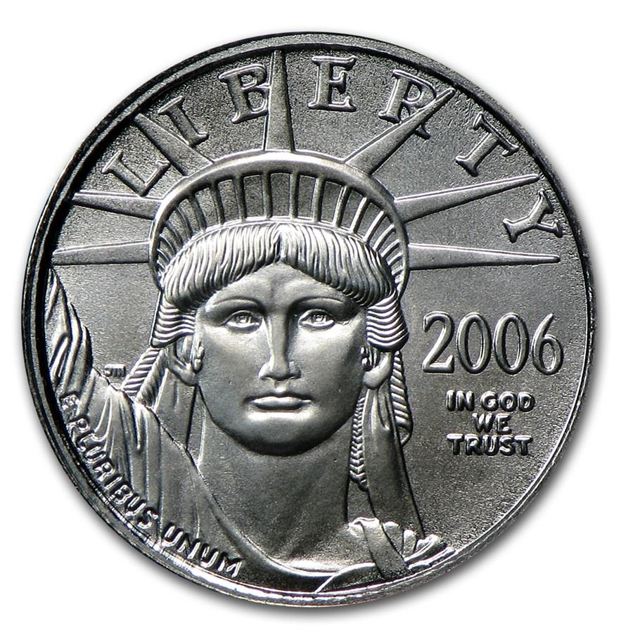 2006 1/10 oz American Platinum Eagle BU