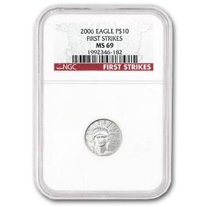 2006 1/10 oz American Platinum Eagle MS-69 NGC (First Strikes)