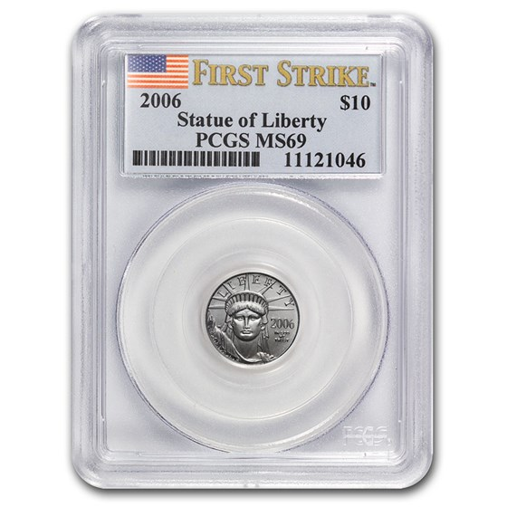 2006 1/10 oz American Platinum Eagle MS-69 PCGS (FirstStrike®)