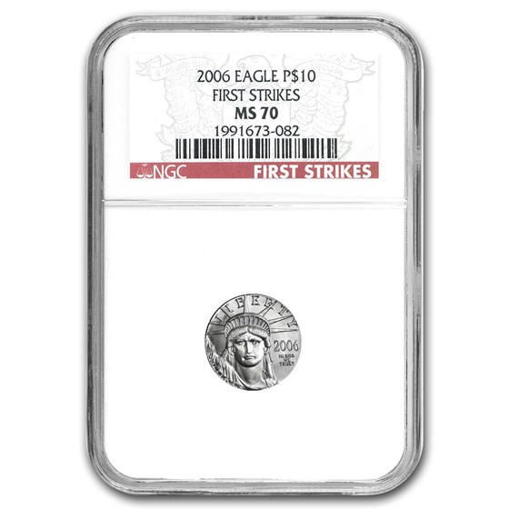 2006 1/10 oz American Platinum Eagle MS-70 NGC (First Strikes)