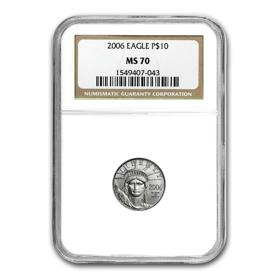 2006 1/10 oz American Platinum Eagle MS-70 NGC