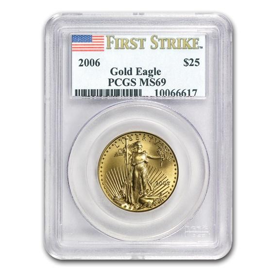 2006 1/2 oz American Gold Eagle MS-69 PCGS (FS)