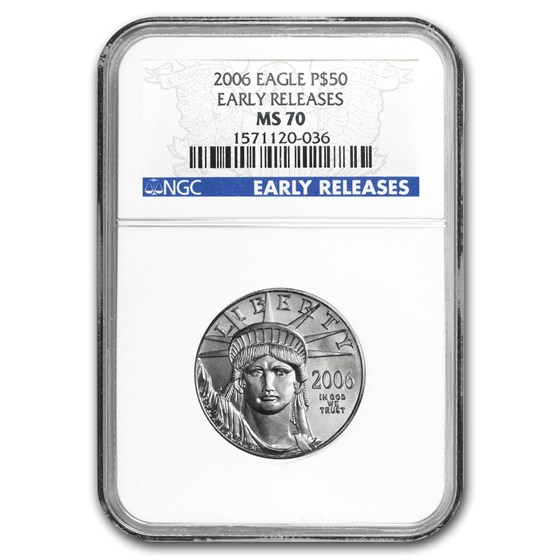 2006 1/2 oz American Platinum Eagle MS-70 NGC (Early Releases)