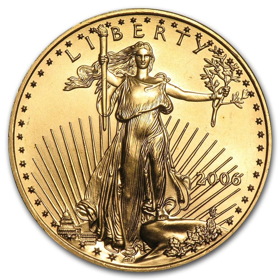 2006 1/2 oz Gold American Eagle BU