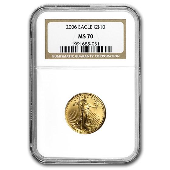 2006 1/4 oz American Gold Eagle MS-70 NGC