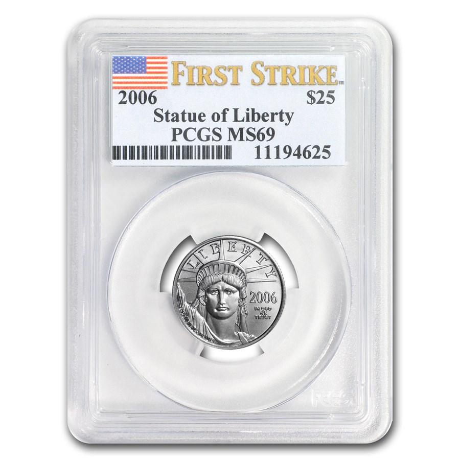 2006 1/4 oz American Platinum Eagle MS-69 PCGS (FirstStrike®)