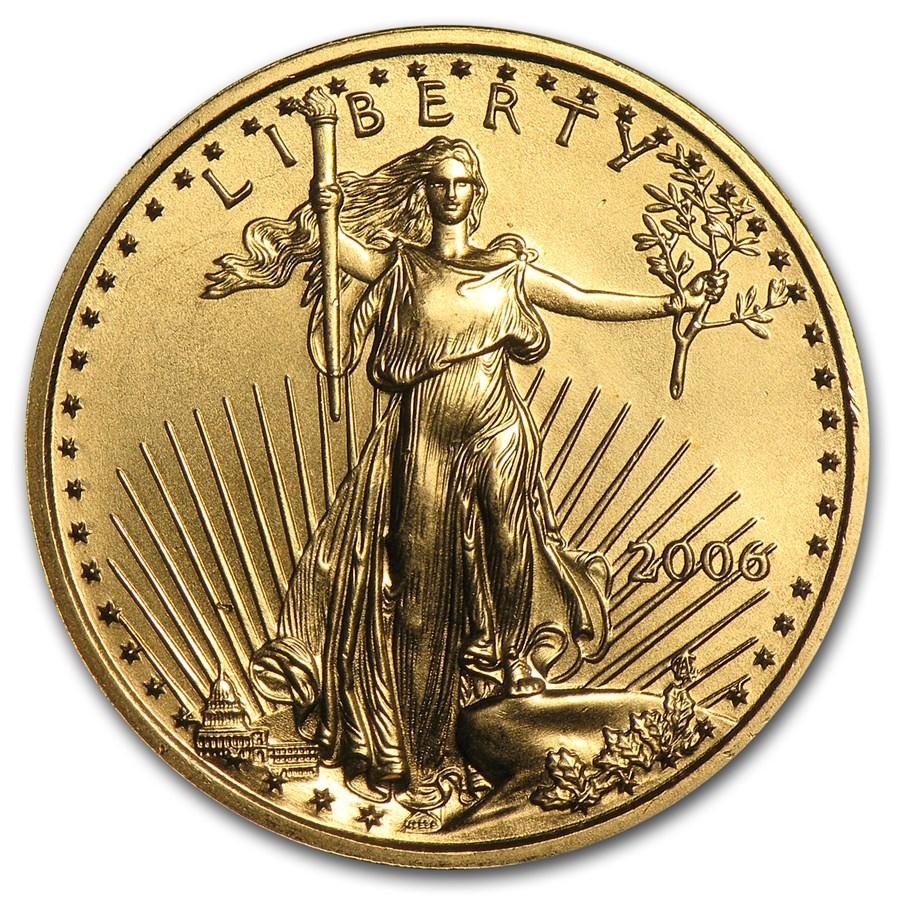 2006 1/4 oz Gold American Eagle BU