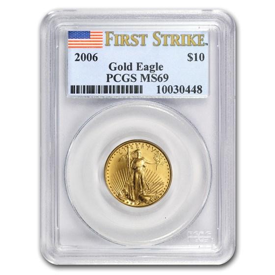 2006 1/4 oz Gold American Eagle MS-69 PCGS (FS)