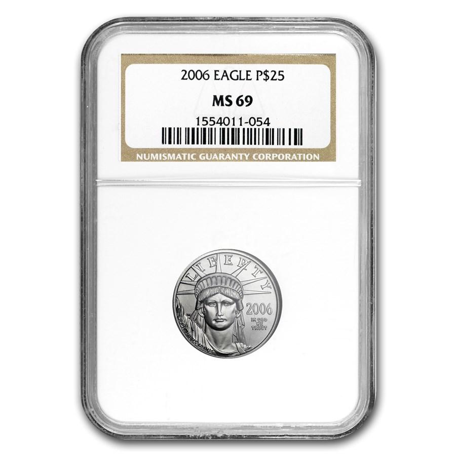 2006 1/4 oz Platinum American Eagle MS-69 NGC