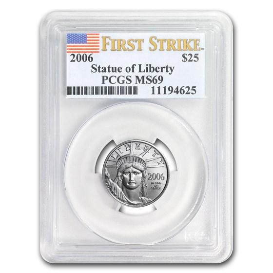 2006 1/4 oz Platinum American Eagle MS-69 PCGS (FirstStrike®)