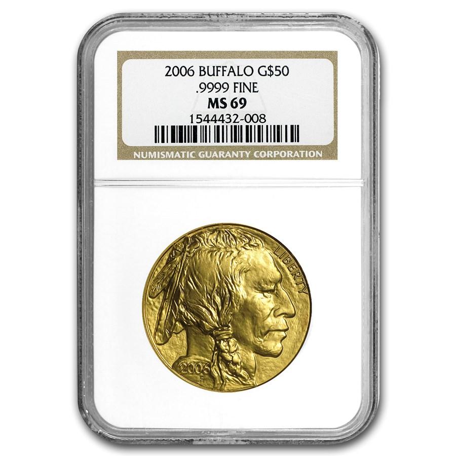 2006 1 oz Gold Buffalo MS-69 NGC