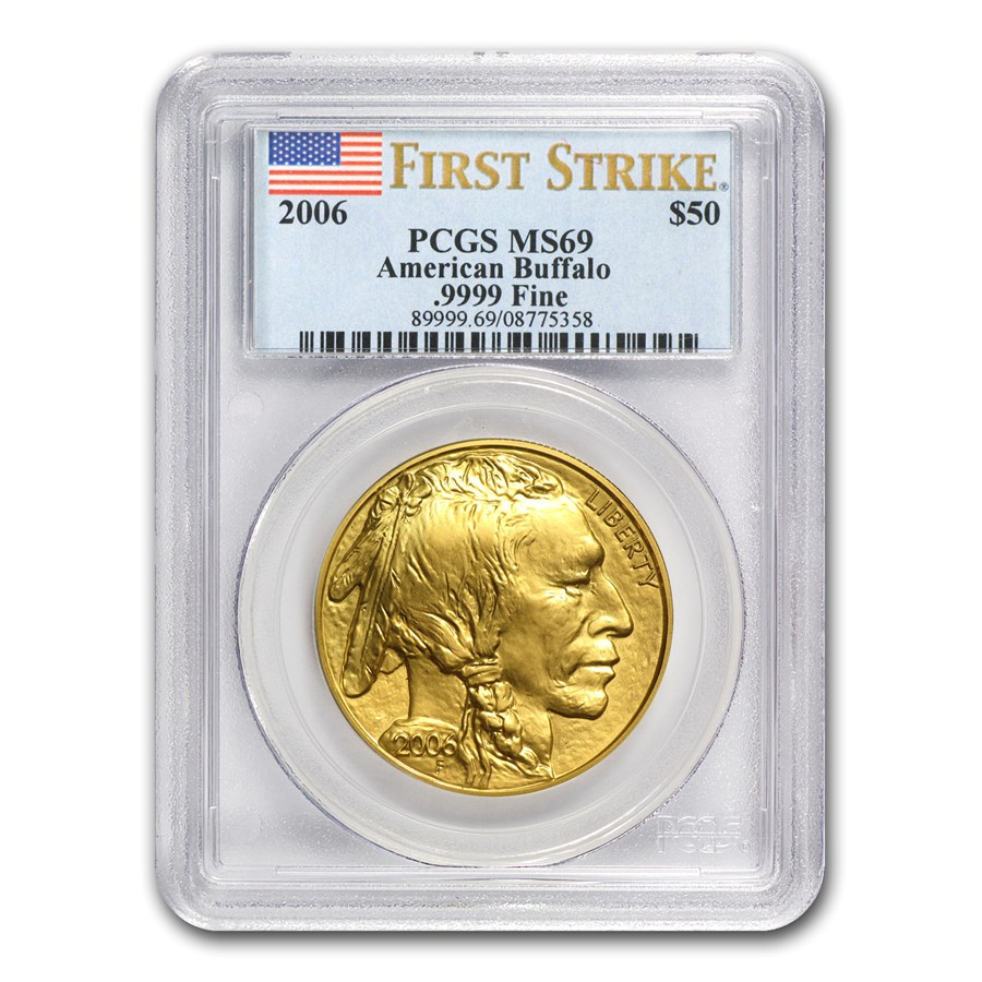 2006 1 oz Gold Buffalo MS-69 PCGS (FirstStrike®)