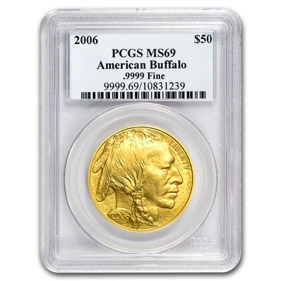 2006 1 oz Gold Buffalo MS-69 PCGS