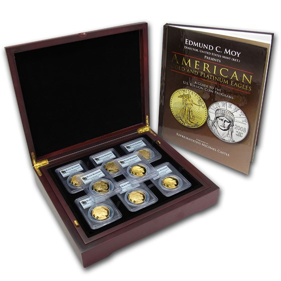 2006-2013 8-Coin 1 oz Gold Buffalo Set PR-69 PCGS (Black Diamond)