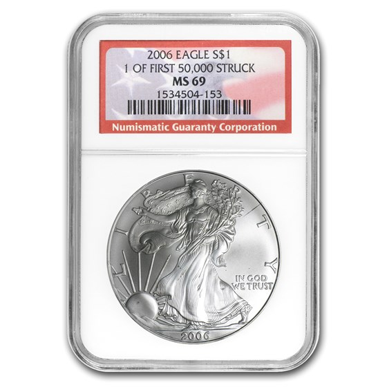 2006 American Silver Eagle MS-69 NGC (1 of First 50,000)