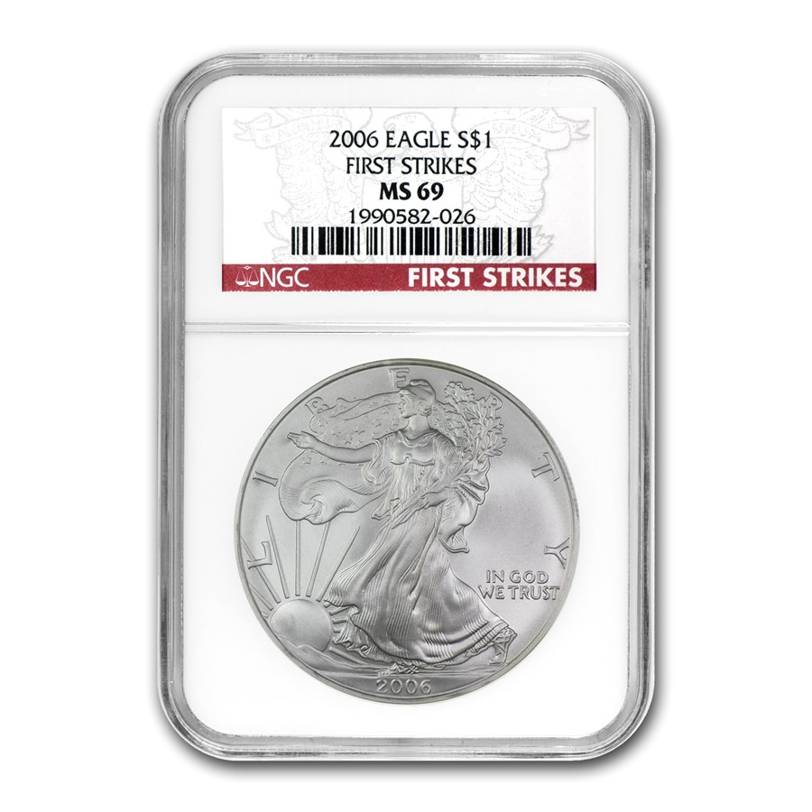 2006 American Silver Eagle MS-69 NGC (First Strikes)